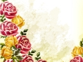 Decorative grunge vector background with roses