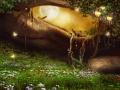 Zaczarowana jaskinia z lampionami