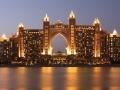 Atlantis Hotel illuminated at night, Dubai