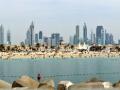 Panoramic view of Dubai from the Persian Gulf