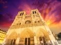 Notre Dame Cathedral - Paris. Wonderful winter sky