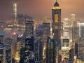 Night view to HongKong and Kowloon