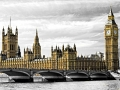 The Big Ben, the House of Parliament and the Westminster Bridge, London, UK.