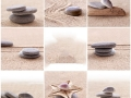 2014, collage sable et galets
