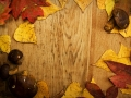 Leaves on a board