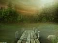 Drewniane molo na jeziorze