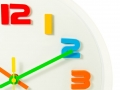 colour full wall clock  isolated