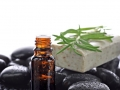 Aromatherapy, natural essential oil border