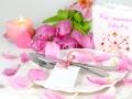 Menü am Valentinstag
