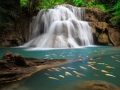 The Huai Mae Khamin Waterfall , Thailand